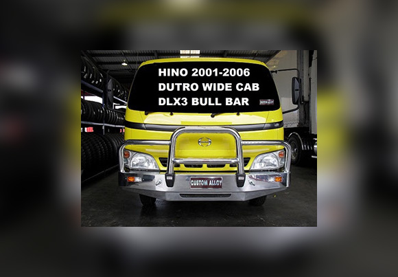Hino Dutro 2001 2006 Wide Cab Dlx3 Bull Bar Polished