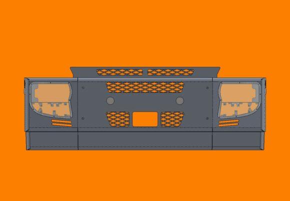 Acm5291 Iveco Stralis Bumper Front