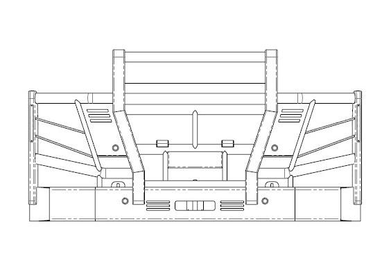 Acm5298 Volvo Fh 5a High Top Bullbar Front