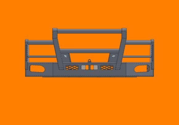5215 Ra Daf Lf280 290 Bullbar Front