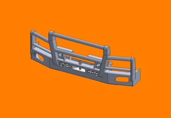 5215 Ra Daf Lf280 290 Bullbar Front Iso