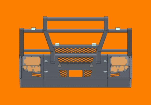 5308 Ra Iveco Stralis Ad At 13+ Bullbar Front