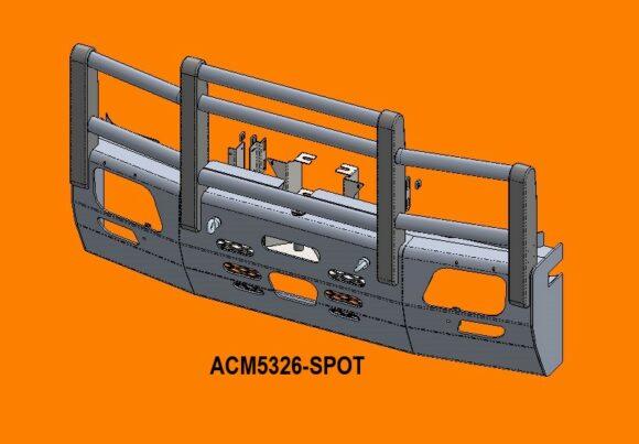 5326 Spot Ra Merc Actros '07 15 5a Bullbar Acc Front Iso