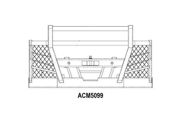 Acm5099 Volvo Fm 14+ Bullbar 4post Hightop 90mm Pipe & Mesh Front