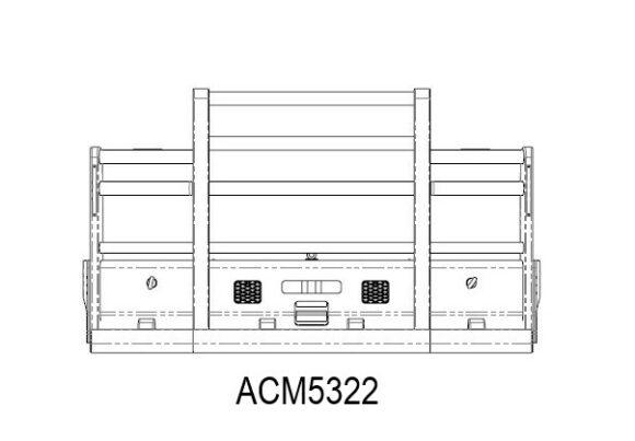 Acm5322 Mack Trident Ab 08+ 6a Bullbar Front