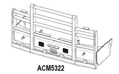 Acm5322 Mack Trident Ab 08+ 6a Bullbar Front Iso