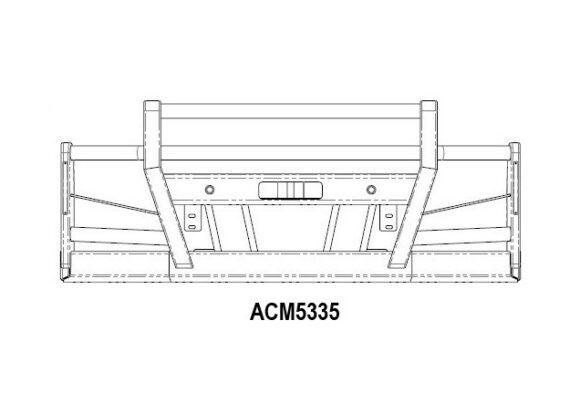 Acm5335 Volvo Fe 2014+ Bullbar 4post High Top 165mmbeam Front