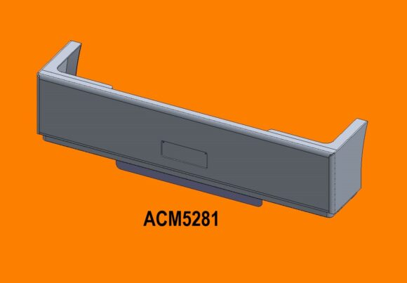5281 Ra Kenworth T650 Bumper Front Iso