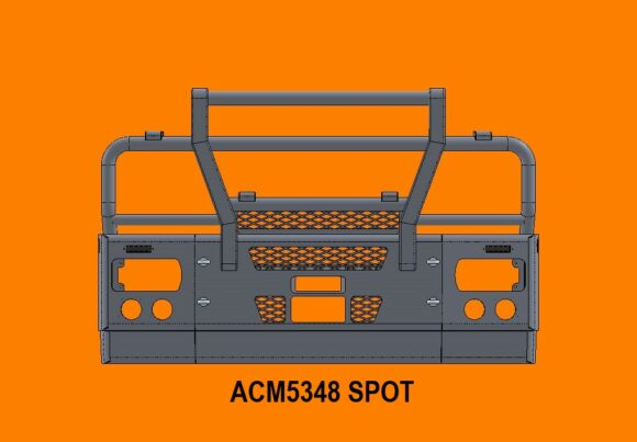 5348 Spot Ra Iveco Stralis Ad At 13+ 5ap Bullbar Replace Factory Steel Bumper Front