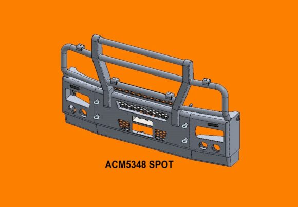 5348 Spot Ra Iveco Stralis Ad At 13+ 5ap Bullbar Replace Factory Steel Bumper Front Iso