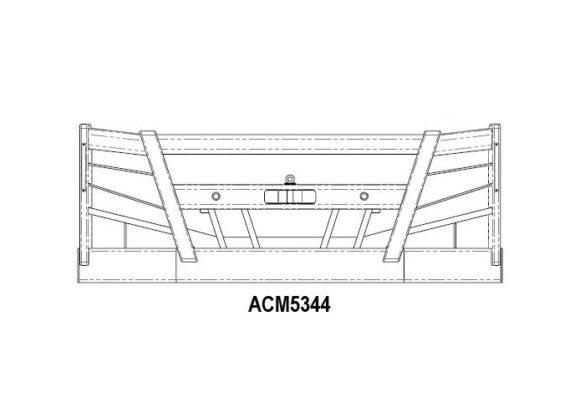 Acm5344 Volvo Fh 14+ Bullbar (5204 No Stedi Light Holes) Front