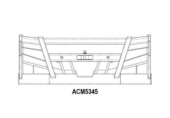 Acm5345 Volvo Fm 14+ Bullbar (5223 No Stedi Light Holes) Front