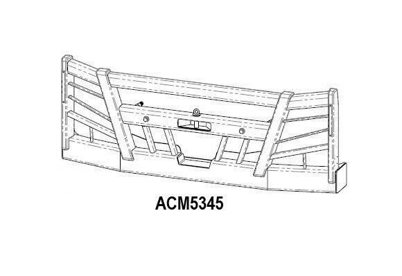Acm5345 Volvo Fm 14+ Bullbar (5223 No Stedi Light Holes) Front Iso