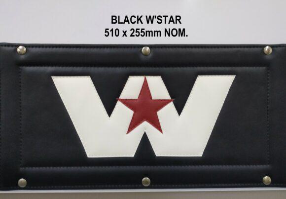 Wstar Black Roadtrain Sign Cover
