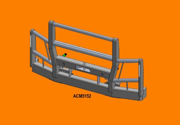 Acm5152 Actros 16+ 4 Blade Grille 5a High Top Front Iso