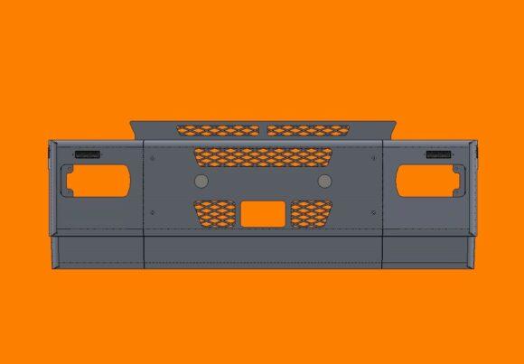Acm5292 Iveco Stralis Bumper Front