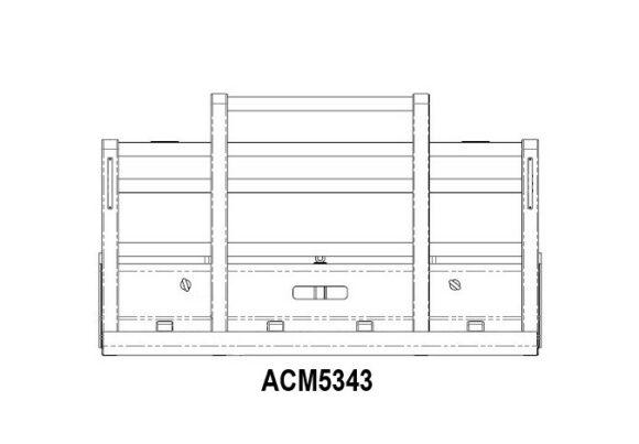 Acm5343 Kenworth T404sar 6a Straight Pipe Bullbar Front