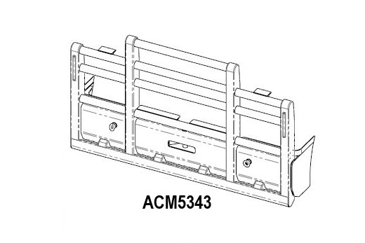 Acm5343 Kenworth T404sar 6a Straight Pipe Bullbar Front Iso